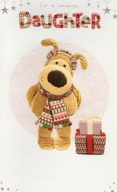 Boofle Wonderful Daughter Christmas Card