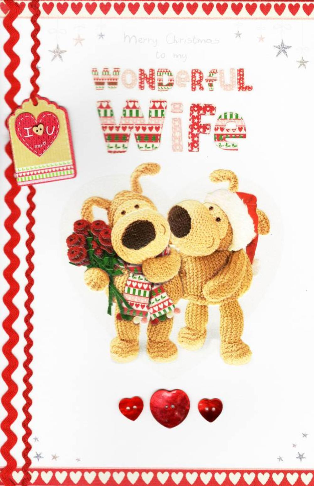Boofle Wonderful Wife Merry Large Christmas Card