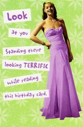 Looking Terrific Funny Birthday Card