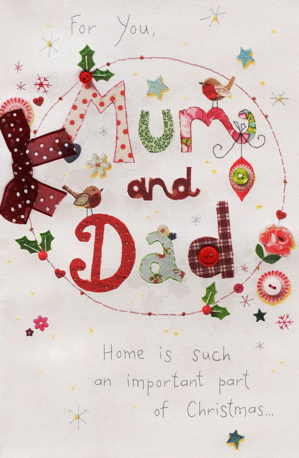For You Mum & Dad Christmas Greeting Card