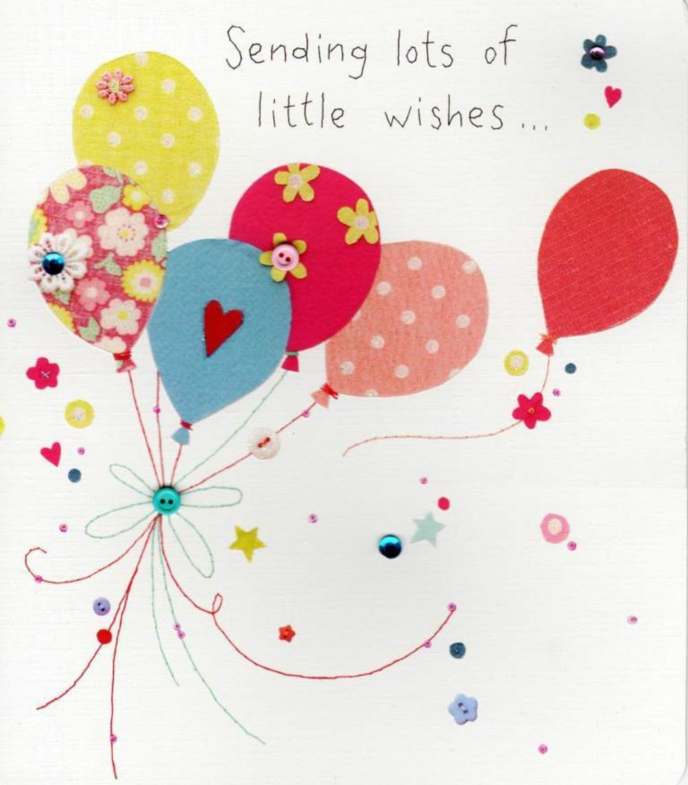 Sending Lots Of Little Wishes Birthday Greeting Card