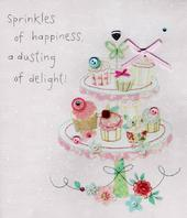 Sprinkle Of Happiness Dusting Of Delight Birthday Greeting Card