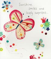 Sunshine Smiles & Lovely Surprises Birthday Greeting Card