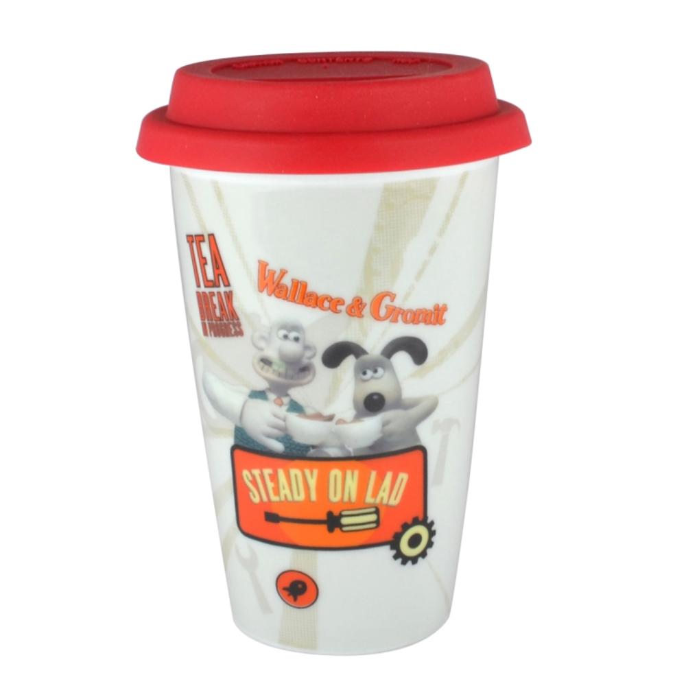 Wallace & Gromit Steady On Lad Travel Mug