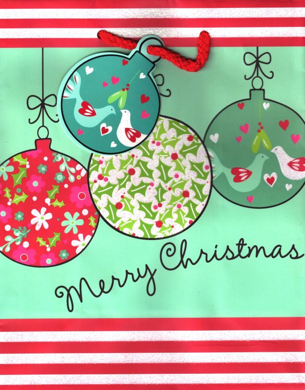 """Christmas Luxury Large 13"""" x 18"""" Gift Bag"""