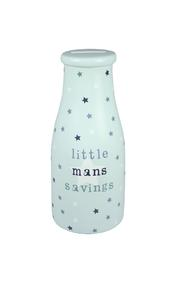 Pocket Pennies Little Man's Savings Bottle Shaped Money Pot
