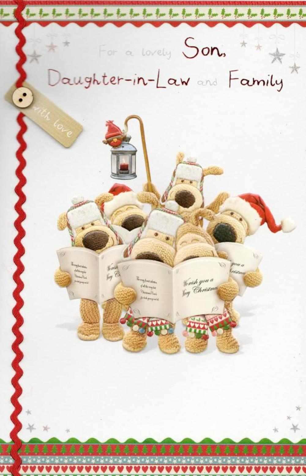 Boofle Son & Daughter-in-Law & Family Christmas Card