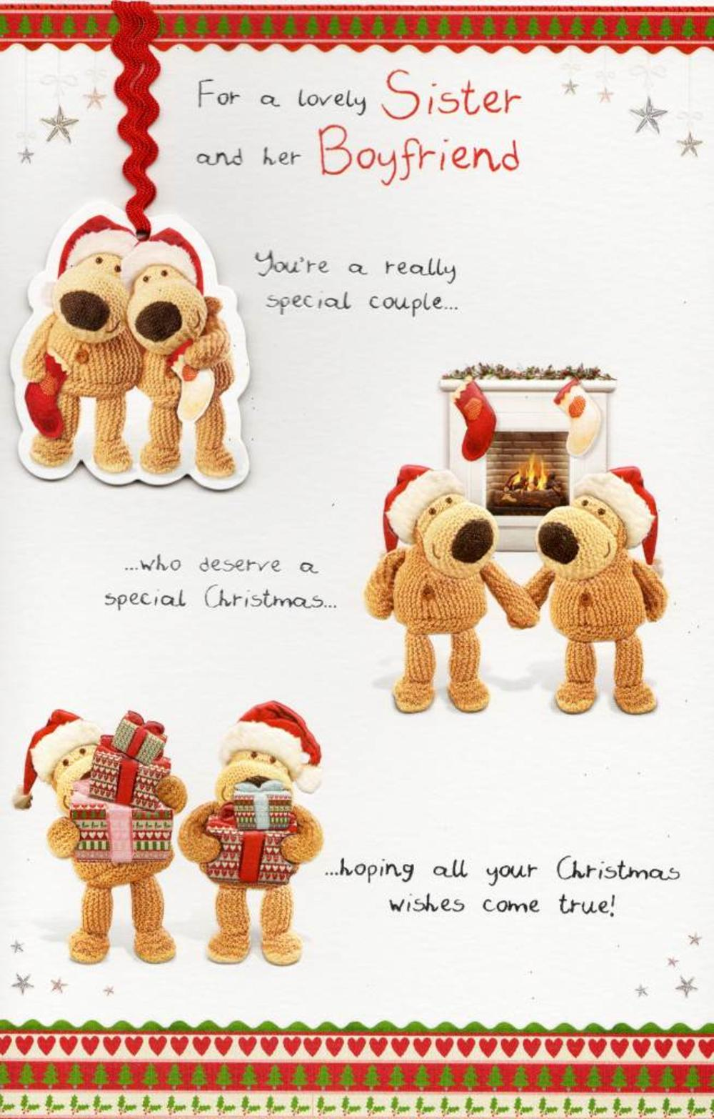 Boofle Sister & Her Boyfriend Christmas Card