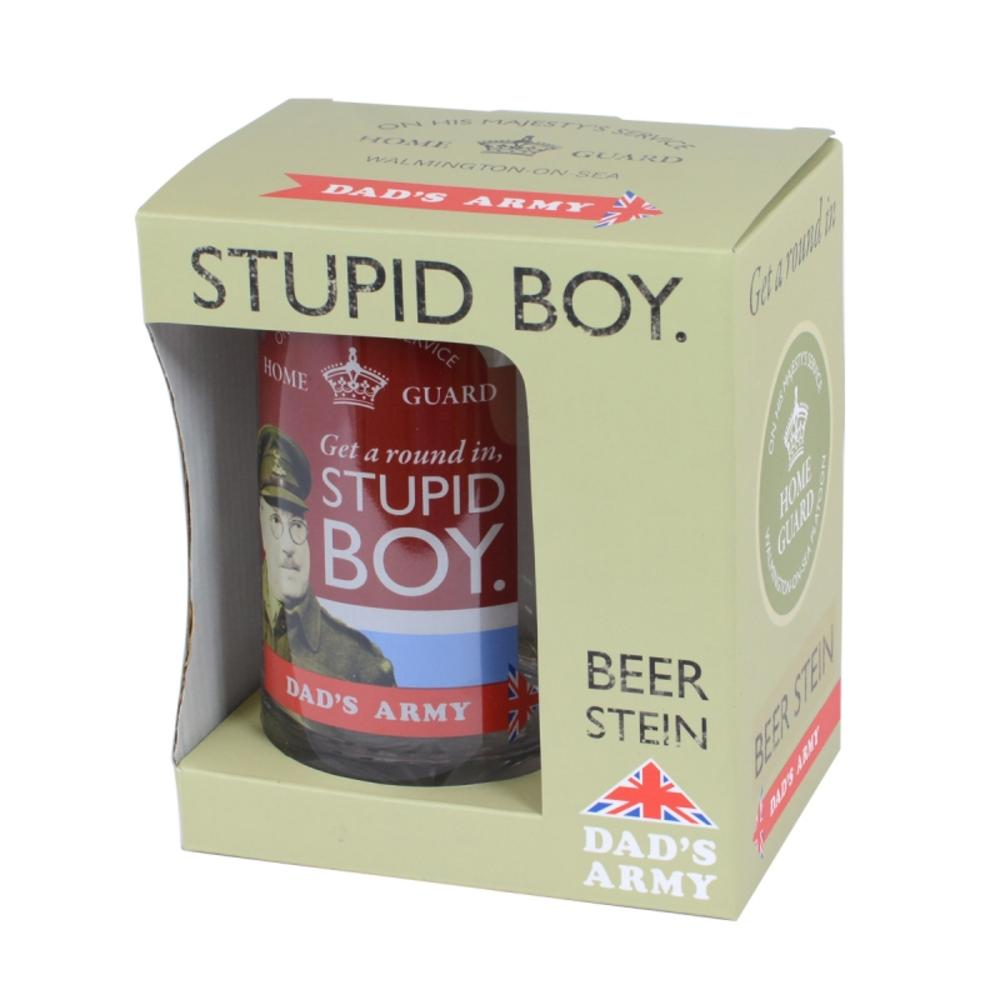 Official Dad's Army Stupid Boy Glass Beer Tankard