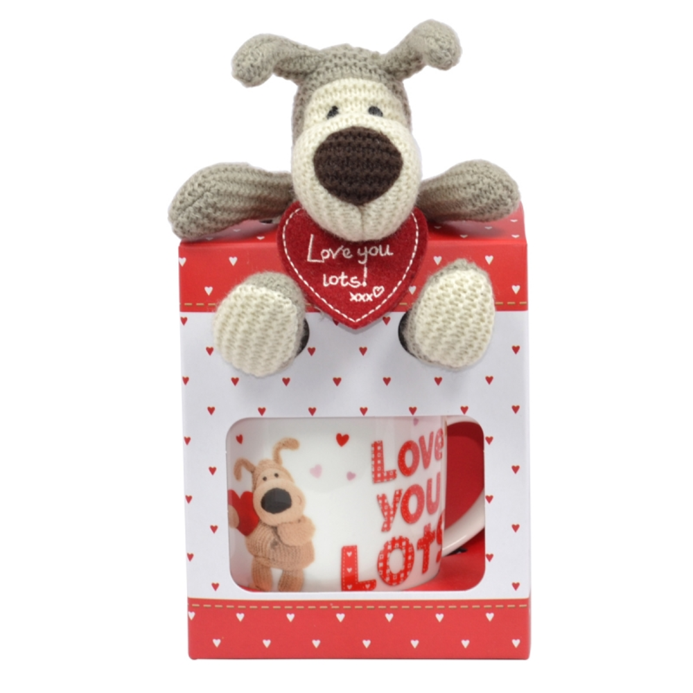 Boofle Love You Lots Plush Mug Set In Gift Box Gifts