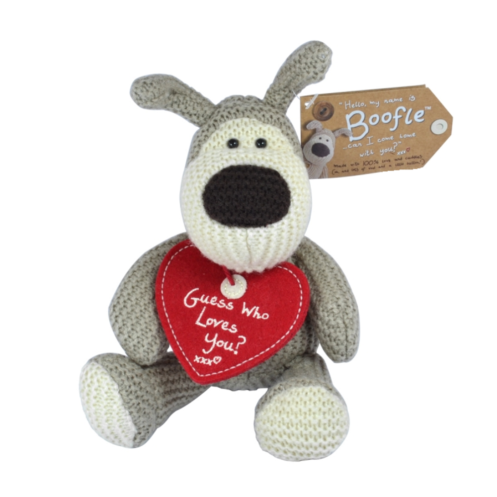 "Boofle 5"" Sitting Guess Who Loves You Plush Toy"