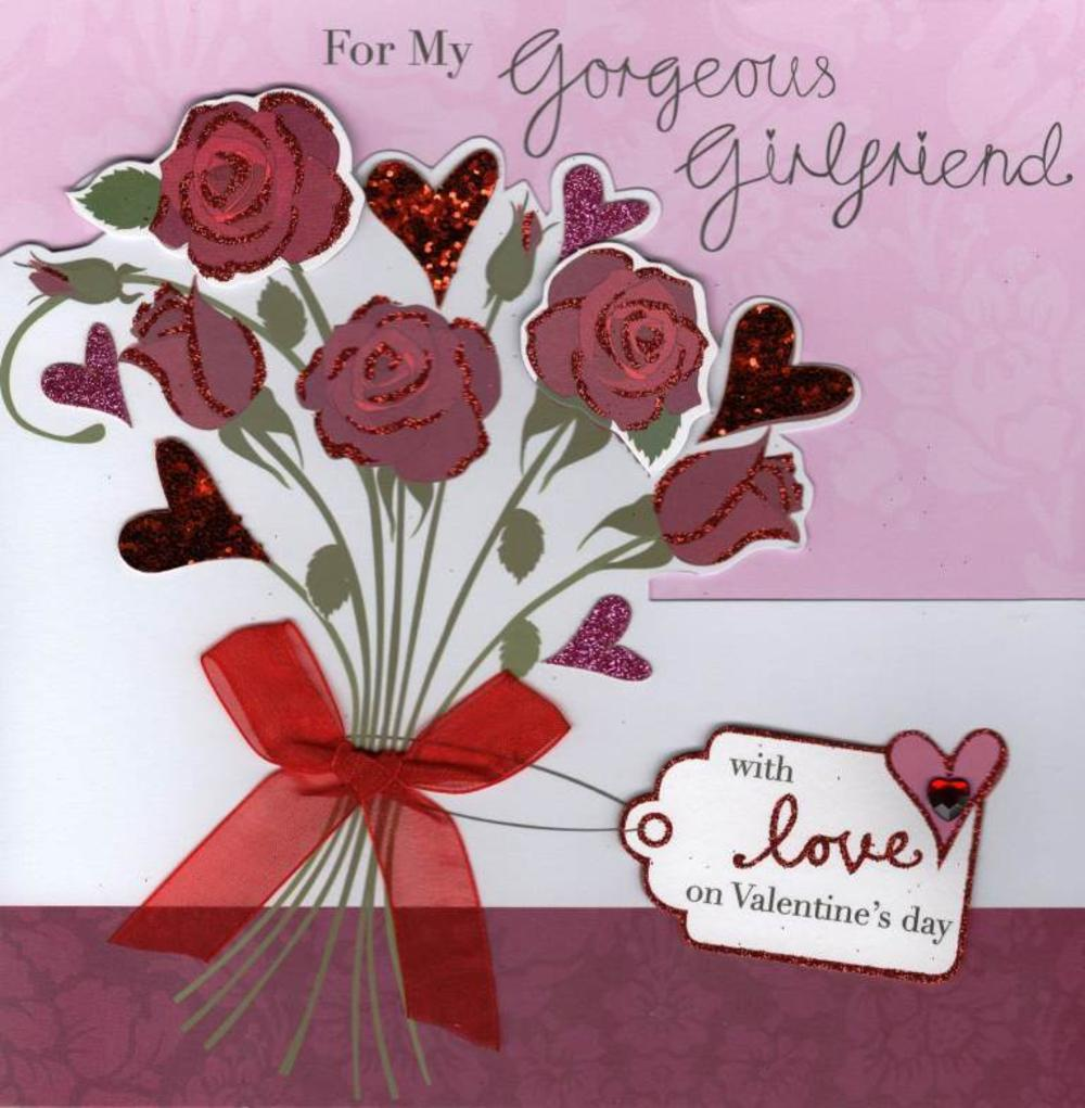 Gorgeous Girlfriend Valentine's Day Card