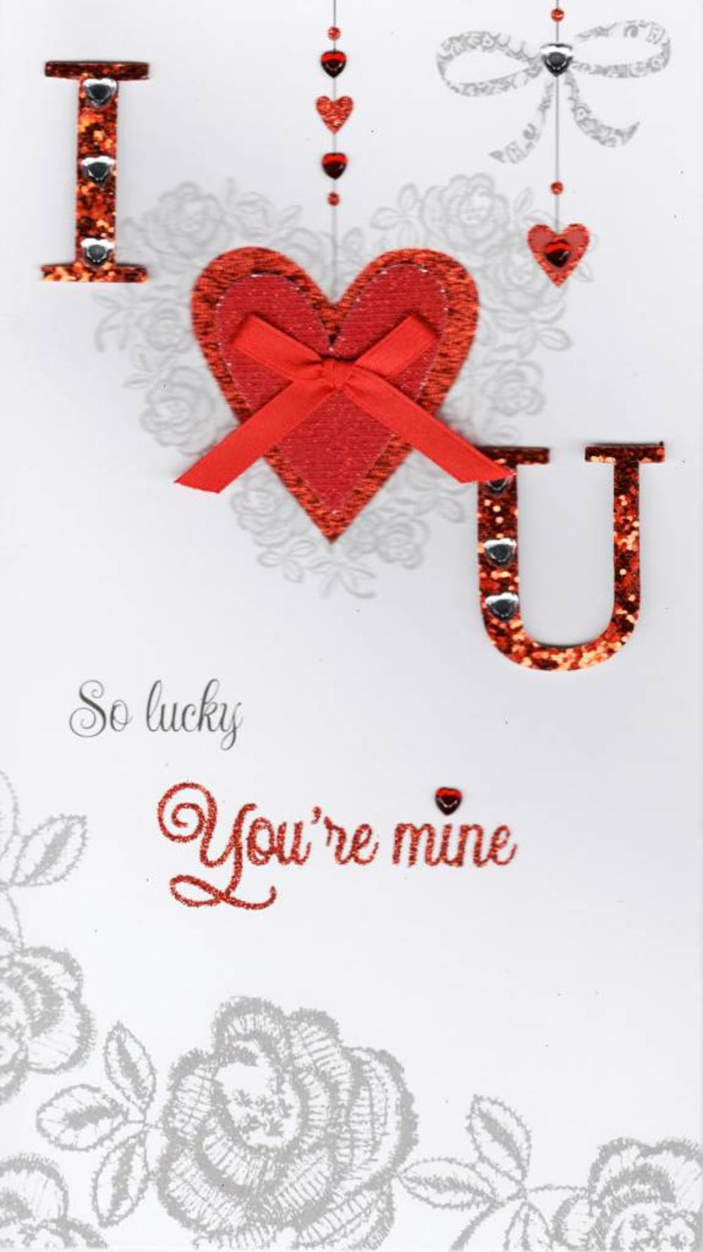 I Love You Lovely Valentine's Day Greeting Card
