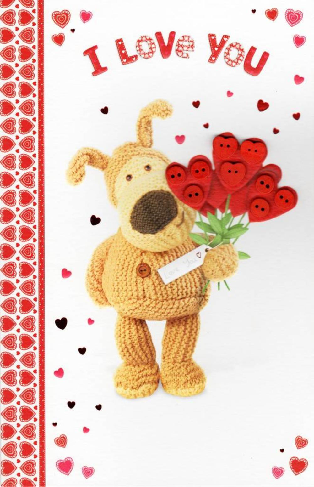 I Love You Boofle Valentine's Day Card