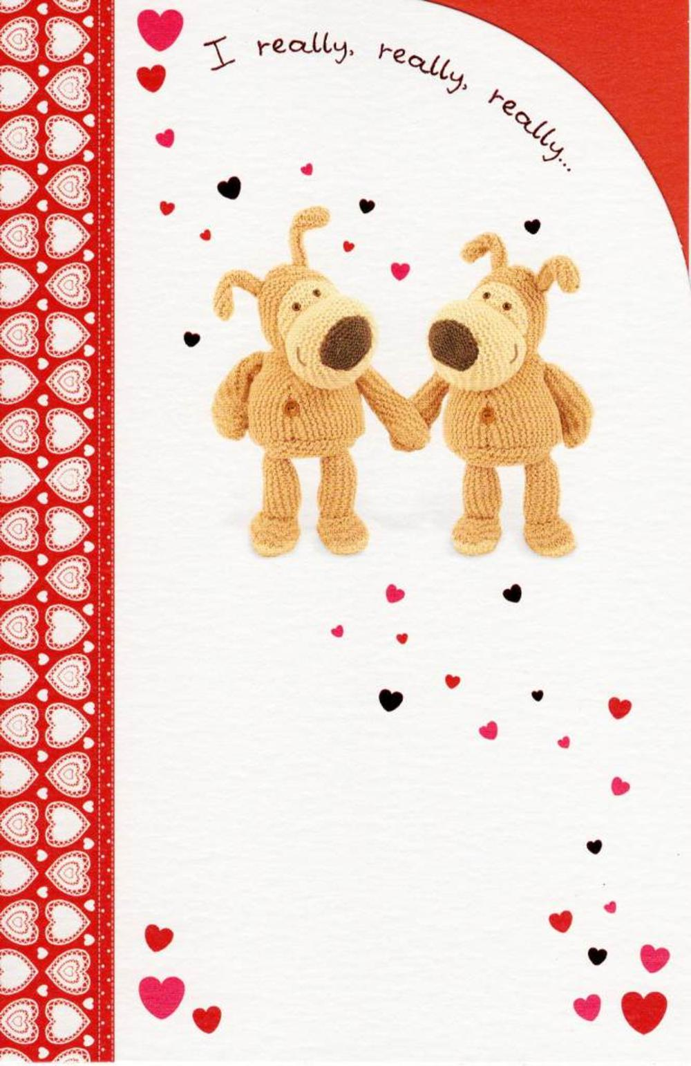 I Really Really Like You Boofle Valentine's Day Card