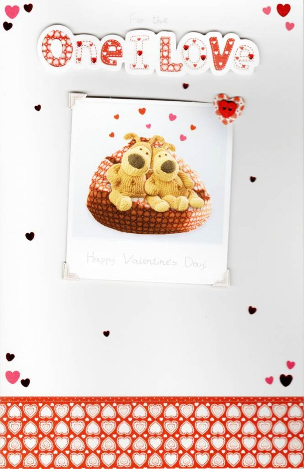 For The One I Love Boofle Valentine's Day Card