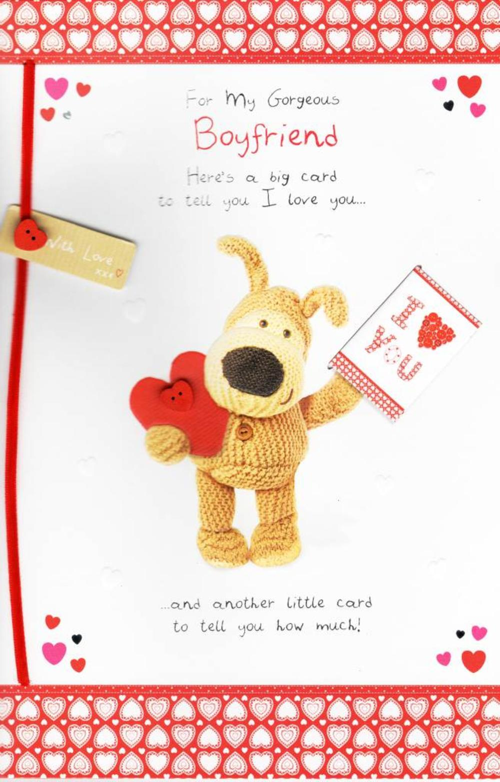 To my gorgeous boyfriend boofle valentine 39 s day card for What to put on a valentines card