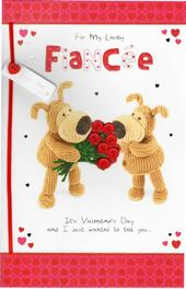 For My Lovely Fiancee Boofle Valentine's Day Card
