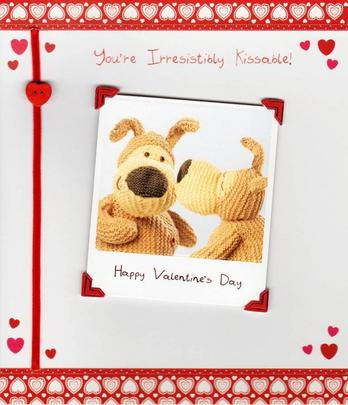 You're Irresistibly Kissable Boofle Valentines Day Card