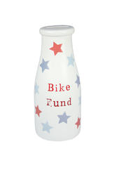 Pocket Pennies Bike Fund Savings Bottle Shaped Money Pot