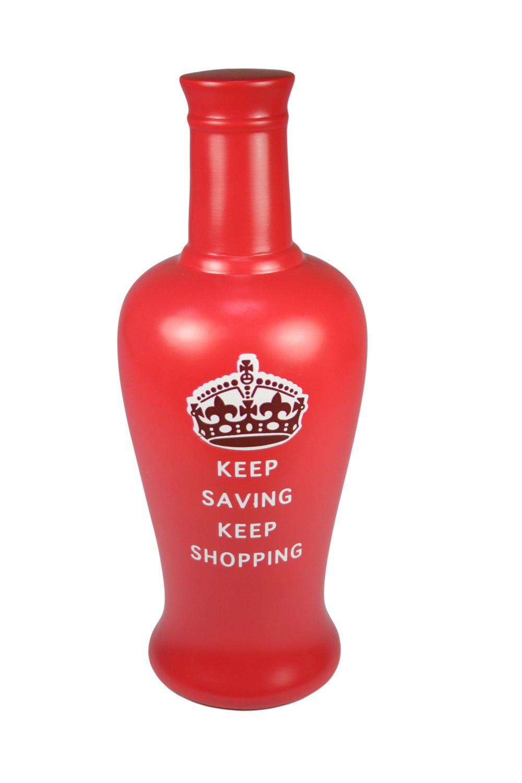 Bottled Dreams Keep Saving Shopping Fund Bottle Shaped Money Pot