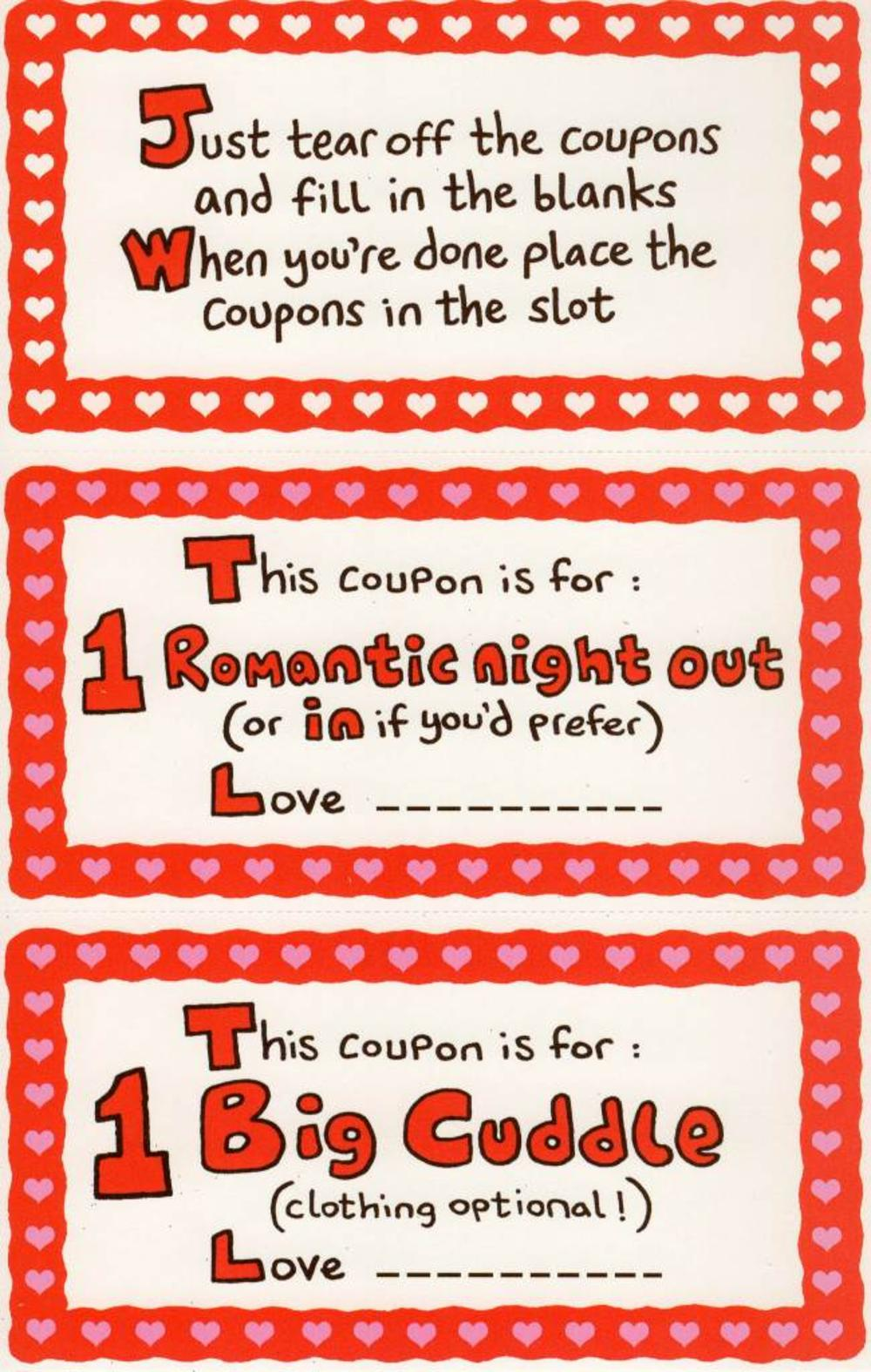 To My Wife Fun Sex Coupons Inside Valentines Day Card  Cards