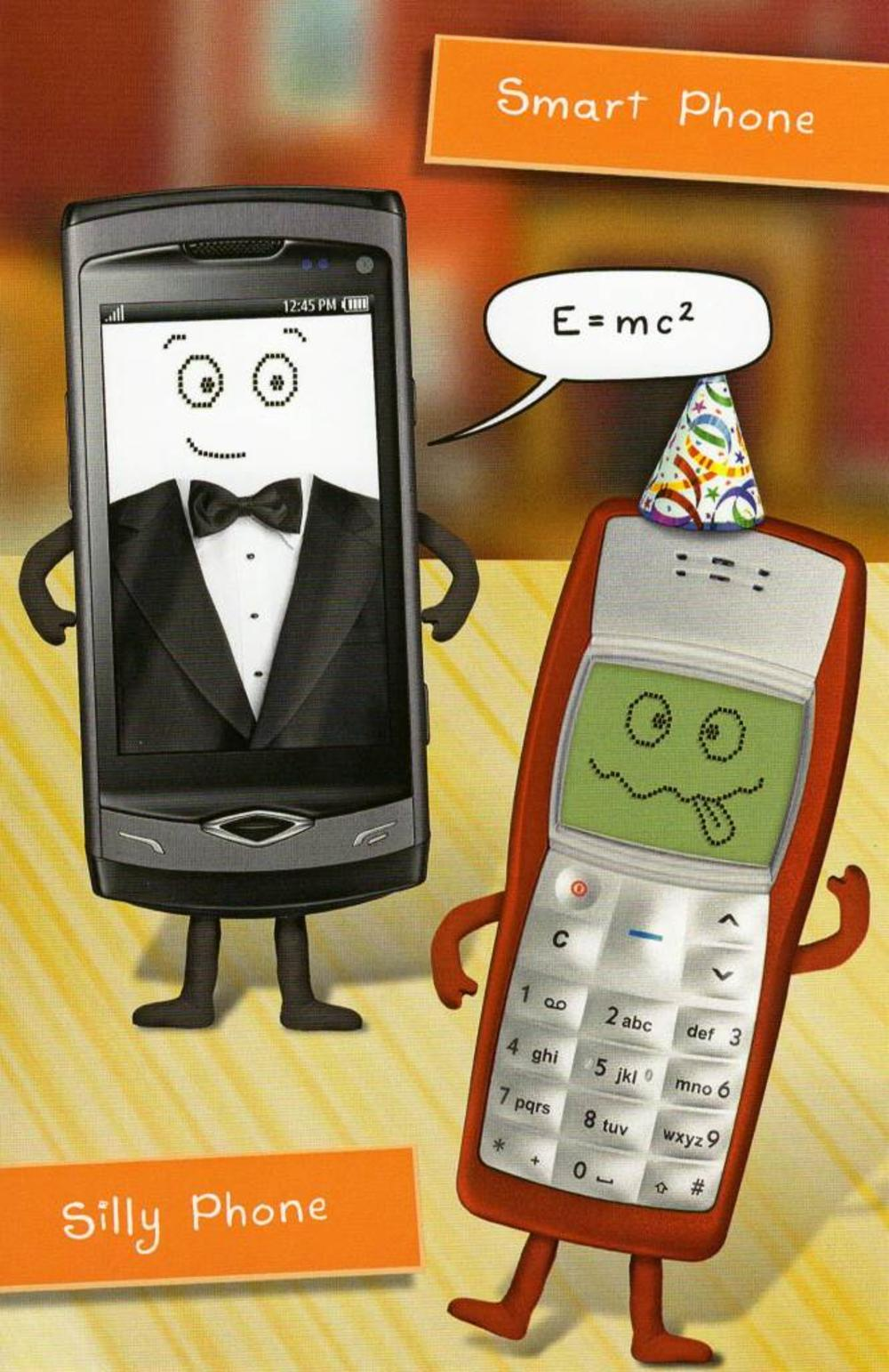 Funny smart phone birthday card cards love kates funny smart phone birthday card kristyandbryce Gallery