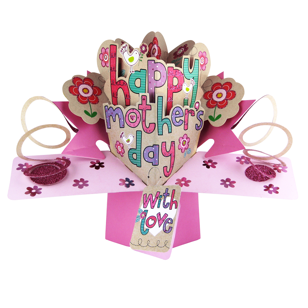 Happy mother 39 s day pop up greeting card cards love kates for Pop up birthday cards for mom
