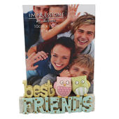 Best Friends Freestanding Resin Lettering Photo Frame