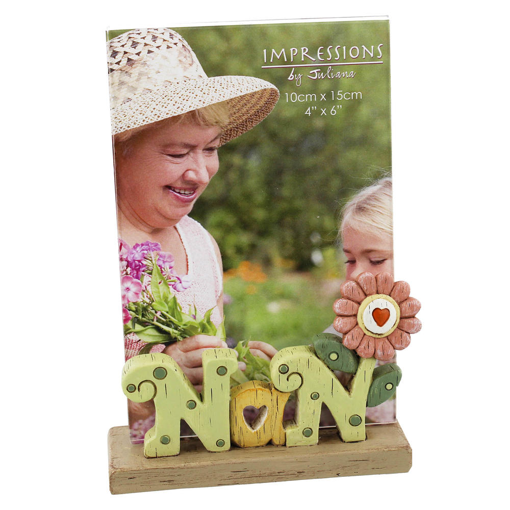 Nan Freestanding Resin Lettering Photo Frame