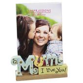 Mum I Love You Freestanding Resin Lettering Photo Frame