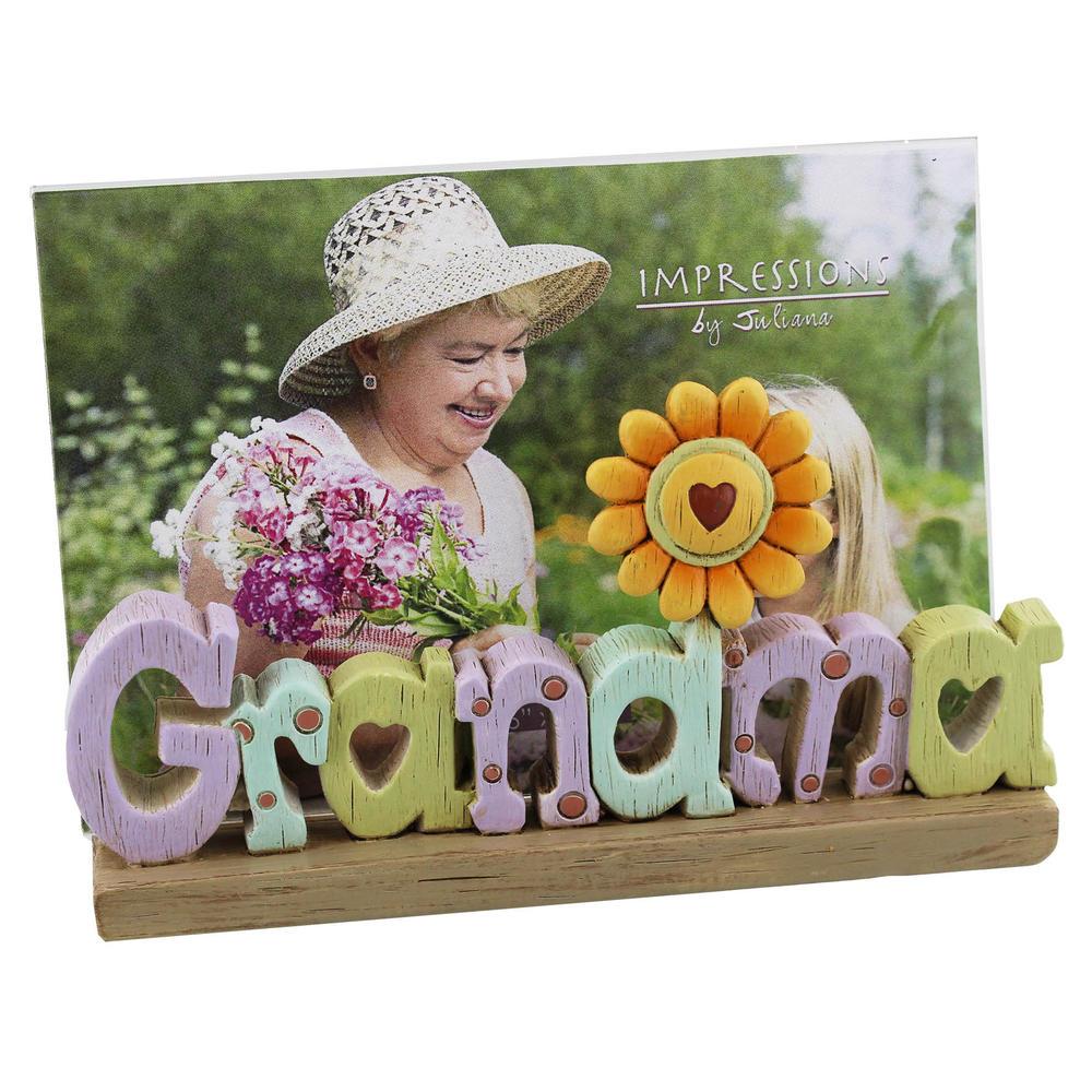 Grandma Freestanding Resin Lettering Photo Frame