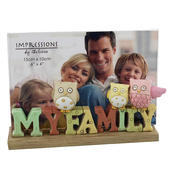My Family Freestanding Resin Lettering Photo Frame