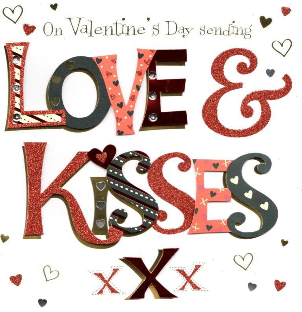Love & Kisses Valentine's Day Greeting Card