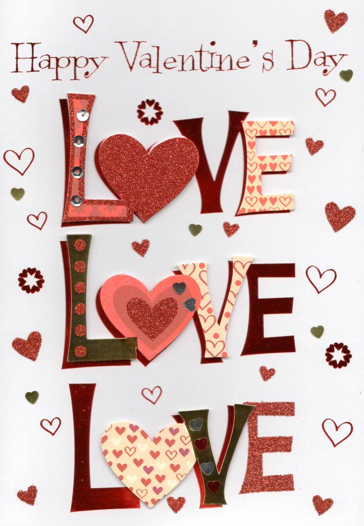 Love Love Love Happy Valentine S Day Greeting Card Cards
