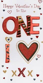 One I Love Happy Valentine's Day Greeting Card