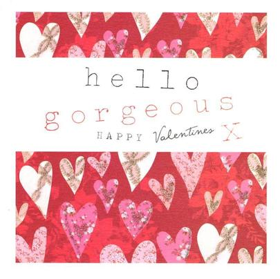 Stephanie Rose Hello Gorgeous Happy Valentine's Day Greeting Card