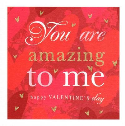Stephanie Rose You Are Amazing Valentines Day Greeting Card