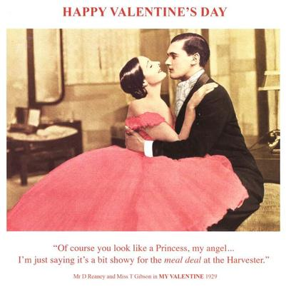 Funny Bit Showy For Harvester Happy Valentine's Greeting Card
