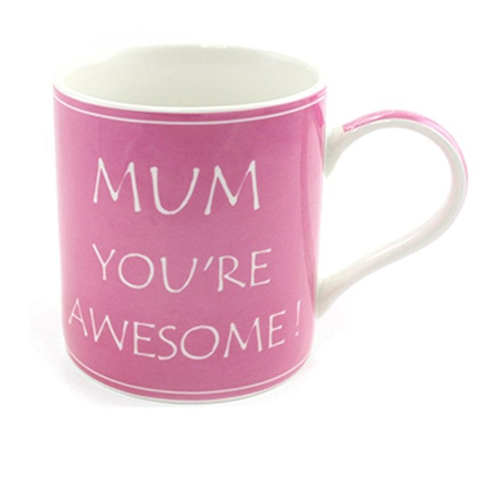 Mum You're Awesome Fine China Mug in Gift Box