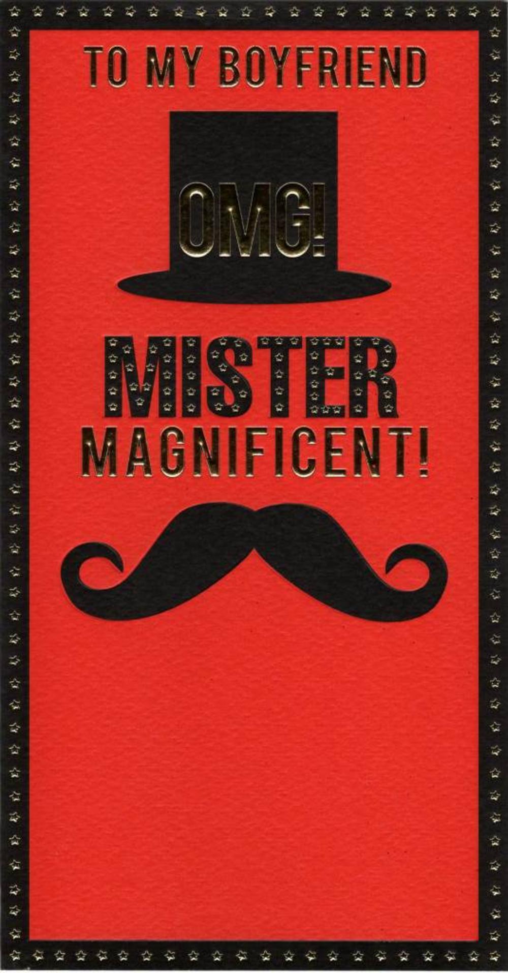 To My Boyfriend Mister Magnificent Valentine's Card