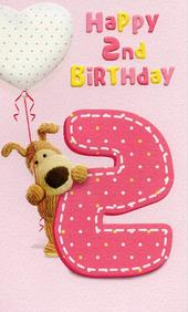 Boofle Happy 2nd Birthday Greeting Card