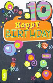 Childrens Happy 10th Birthday Greeting Card