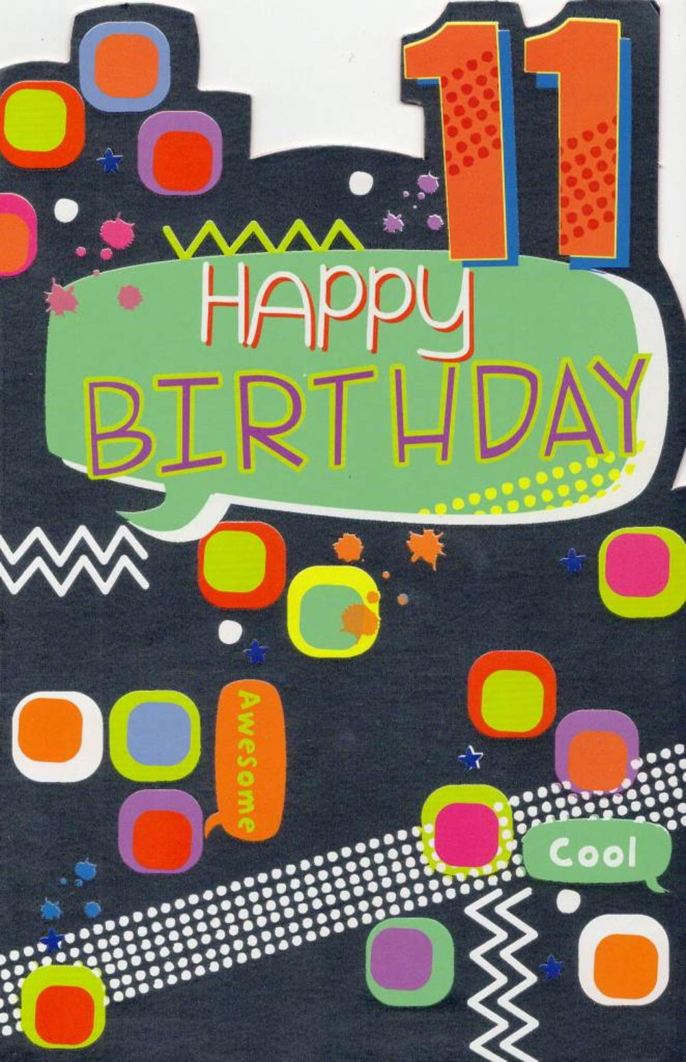 Childrens Happy 11th Birthday Greeting Card