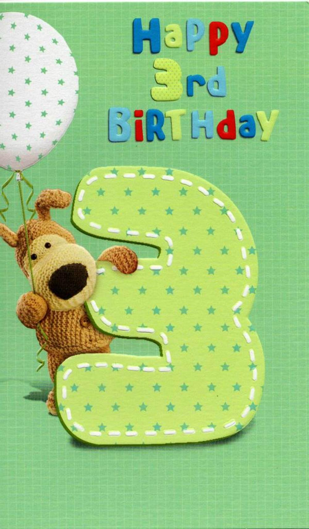 Boofle Happy 3rd Birthday Greeting Card