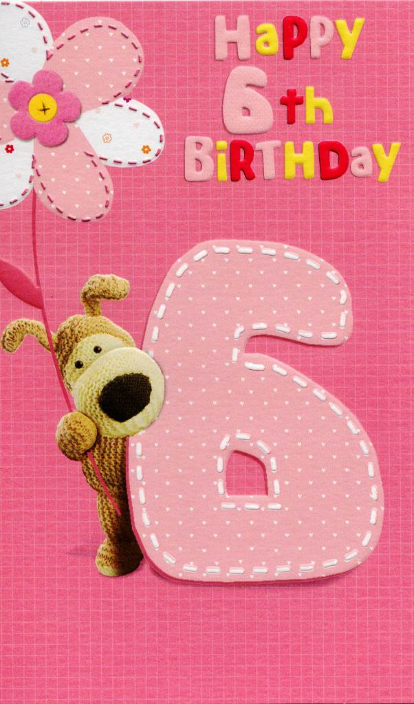 Boofle Happy 6th Birthday Greeting Card Cards