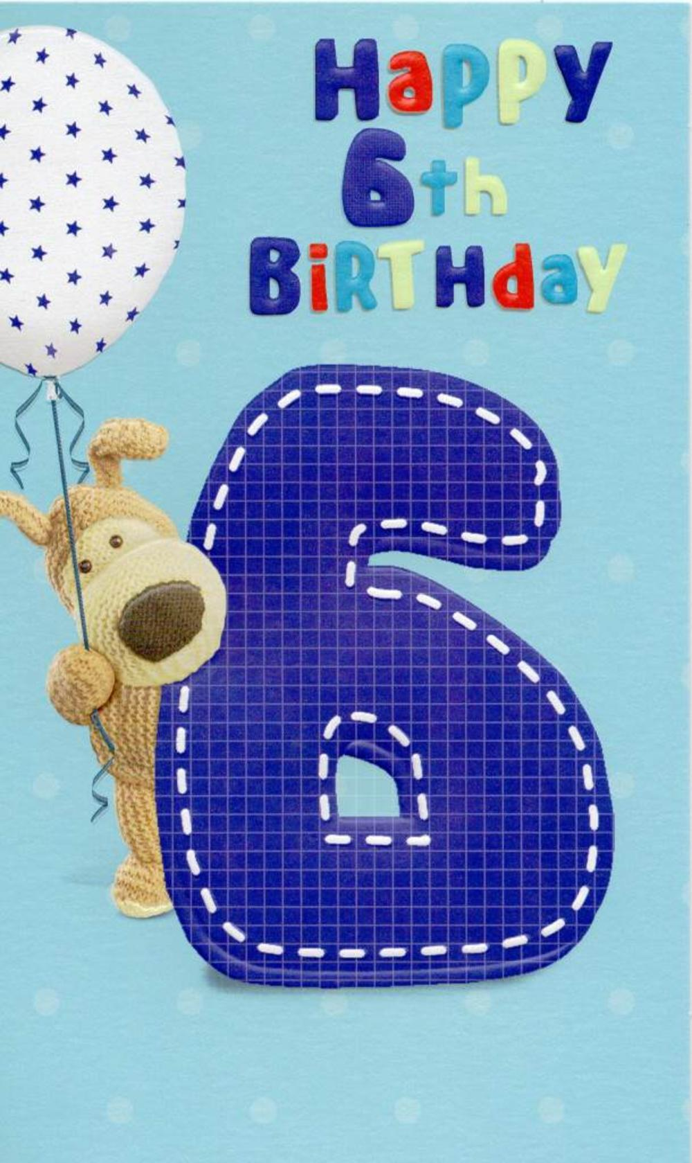 Boofle Happy 6th Birthday Greeting Card