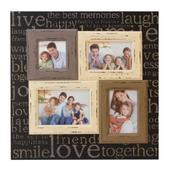 Live Laugh Love Multi Aperture Collage Photo Frame