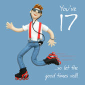 17th Birthday Male Greeting Card One Lump or Two Range