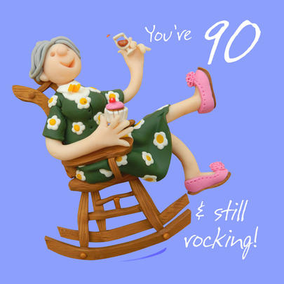 90th Birthday Female Greeting Card One Lump or Two Range